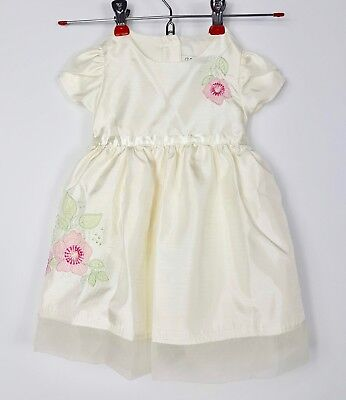 aab2170f7 George Girl's Formal Dress Infant/Baby 12 Months Cream Pink Floral Easter  Party