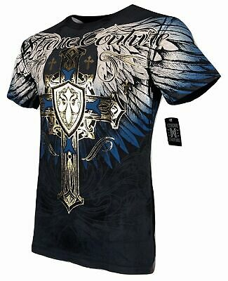 XTREME COUTURE by AFFLICTION Men T-Shirt TEMPEST Biker Wings MMA Gym S-4X $40