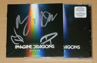 Imagine Dragons Evolve Target Ltd Signed Autographed CD RARE Sealed