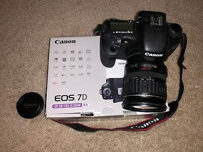 Canon EOS 7D 18.0MP Digital SLR Camera - Black (Kit w/ IS 28-135mm Lens)
