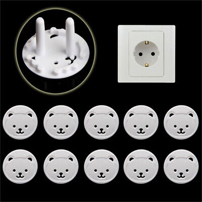 x10 Safety Child Baby Proof Electric Outlet Socket Plastic Cover for EU Plug ♫