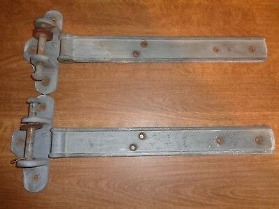 Vintage Heavy Duty Galvanized Cast Iron Barn Shed Garage Door Hinges #0