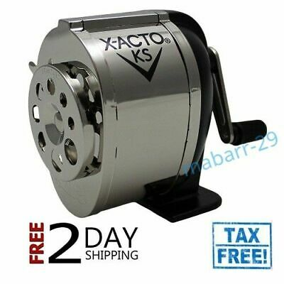 Manual Pencil Sharpener Boston X Acto KS School Table or Wall Mount Stand
