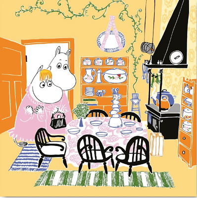 3x napkin Moomin Kitchen for collection, decoupage and other crafts