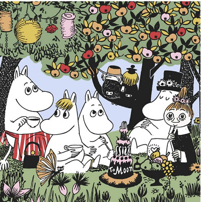 3x napkin Moomin Party for collection, decoupage and other crafts