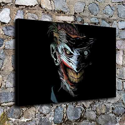 "12""x18""Evil clown jack picture HD Canvas print Painting Home decor room Wall art"