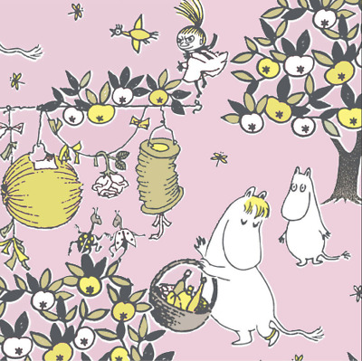 3x napkin Moomin Celebrations pink for collection, decoupage and other crafts