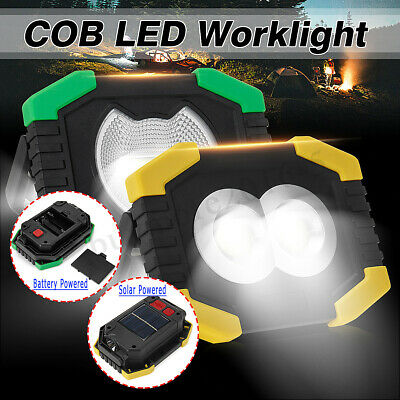 30W COB LED Floodlight Rechargeable Solar Work Light Portable Outdoor Camping