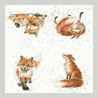3x napkins Fox for collection, decoupage and other crafts