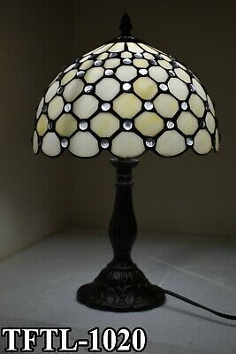 New TIFFANY Table Lamp Antique Style Hand Crafted Multi Colour Bed/Living Room