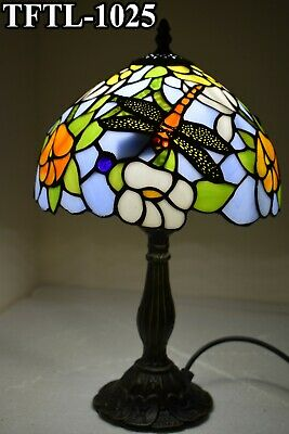 Antique Style New TIFFANY Table Lamp Hand Crafted Multi Colour Bed/Living Room