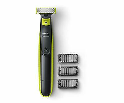 Philips QP2525/10 OneBlade Hybrid Trimmer and Shaver with 3 Trimming Combs