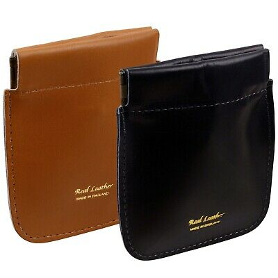 Leather Snap Top Coin Purse by Oakridge Gents Ladies Men