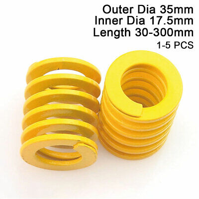 35mm OD Yellow Extra Light Load Compression Mould Die Spring 17.5mm ID All Sizes