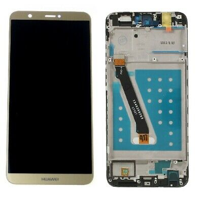 Huawei P SMART FIG-LX1 Touch Screen Digitizer LCD Assembly Display Frame Gold