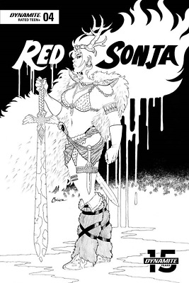 RED SONJA #4 1:20 B&W Conner Variant - 5/1/19