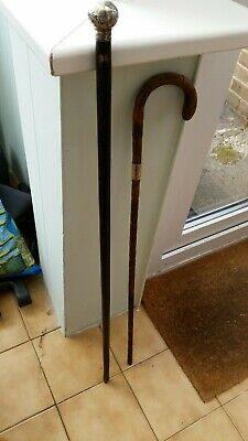 2 Antique Walking Canes A/f