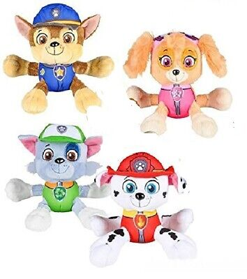 "Paw Patrol 6"" Plush Toy Set of 4 Marshall, Skye,Rocky and Chase New with Tags"