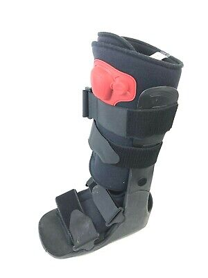 ProCare XcelTrax Tall Air Ankle Brace Cast Medical Boot Black Size Small S