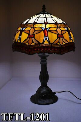 TIFFANY Style New Table Lamp Antique Hand Crafted Bed/Living Room Aluminium Lamp