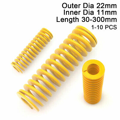 22mm OD Yellow Extra Light Load Compression Mould Die Spring 11mm ID All Sizes