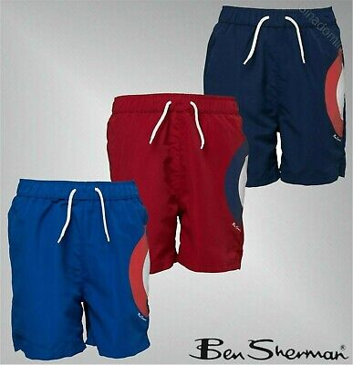 Boys Ben Sherman Printed Mesh Lined Swim Shorts Swimwear Sizes Age 3-12 Yrs