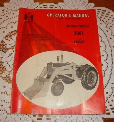 Vtg 1965 International Harvester MANUAL Tractor Original IH Operator's Loader
