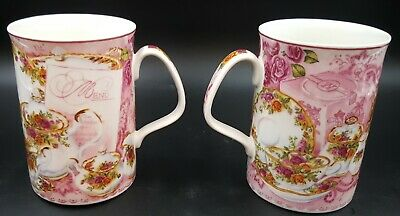 Royal Albert Old Country Roses Afternoon Tea Philippa Mitchell Mugs Set Of 2