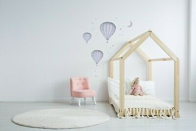 3 x Hot Air Balloon - Wall Stickers - Oh the Places You'll go - Nursery Wall Art
