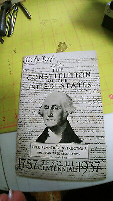 Vntg The Constitution of the United States 1787 Sesqui Centennial 1937 Booklet