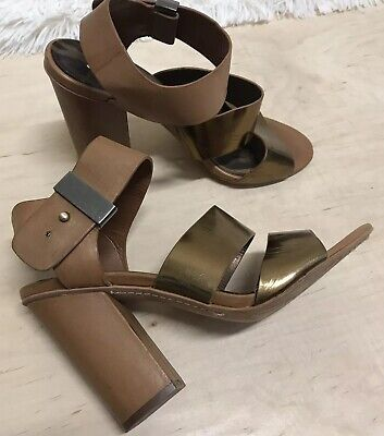 b114eff9e Sam Edelman Yelena Women s Heels Shoes Sandals Ankle Strap Size 8 M Gold Tan