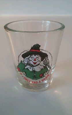 """If I Only Had A Brain"" Scarecrow Shot Glass Toothpick Holder Holds 2oz. Hunter"