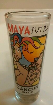 X-Rated Tall MayaSutra Cancun Mexico Shot Glass