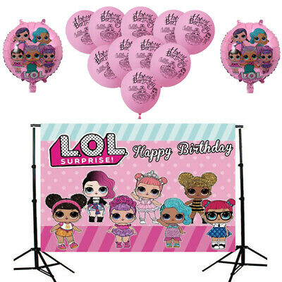 Photography Backdrop LOL Surprise Birthday Party Balloon Photo Background