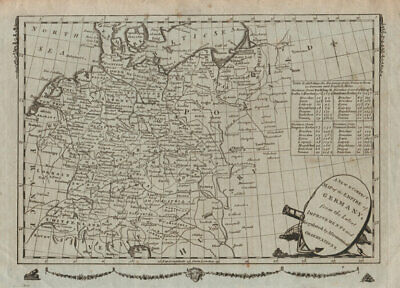 A New & Correct Map of the Empire of Germany. MILLAR c1783 old antique