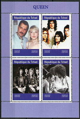 Chad 2019 CTO Queen Freddie Mercury 4v M/S Music Celebrities Stamps