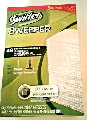Swiffer Sweeper Cloths Dry Sweeping Refills 48 Ct. SweeperVac Cleaning Household