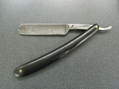 "Antique George Wostenholm & Son ""Original Pipe"" Etched Straight Razor"