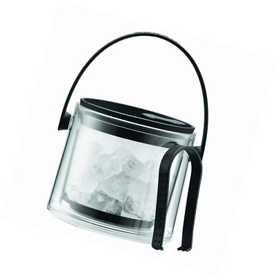 Bodum 11584-01B Cool Ice Bucket with Tongs, 1.5 L - Black