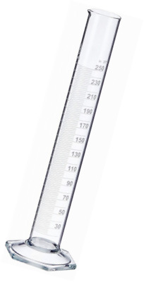 NeoLab E-1267 Measuring Cylinder, Tall pattern, Hex Foot, Class B Borosilicate G