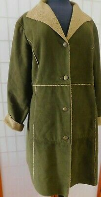 TSD Two Star Womans Dk Brown Lg SL, 4 Button Front Long Spring-Fall Jacket XL,