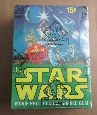 1977 Topps Star Wars 4TH Series 36 Unopened Wax Packs Box ( BBCE Wrapped )