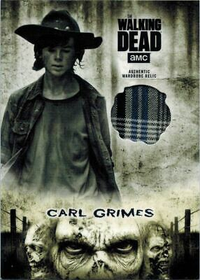 ~Walking Dead Hunters & Hunted: Costume Relic Card of Carl Grimes R-CG