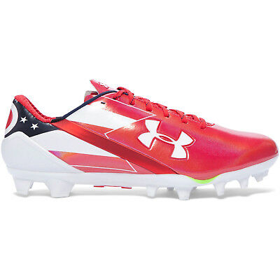 982a81a0d6ef New Under Armour UA Spotlight MC LE Mens Football Cleats Red White Ohio  Flag, 13