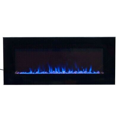 New. Electric Fireplace In Wall 42 in. changing LED Flame Remote Black
