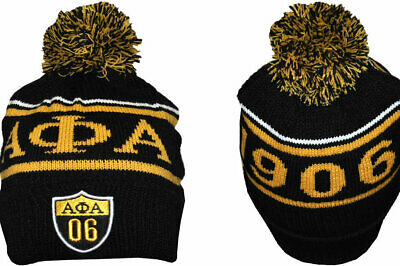 Alpha Phi Alpha Fraternity Beanie- Black/Gold-New!