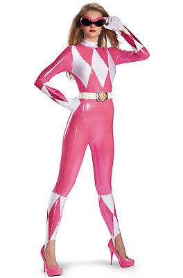 CL277 Mighty Morphin Power Rangers Pink Ranger Sassy Deluxe Adult Hero Costume