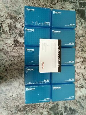 Thermo Scientific Art Tips 2149P 10 Boxes of 96 0.02mL Max Volume Pipette Tips
