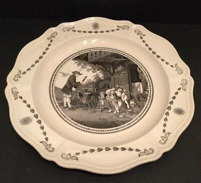 "Large Vintage Wedgwood Queens Ware Charger ""Les Loins Maternals"" c1952"