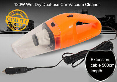 120W 12V Portable Car Vacuum Cleaner Mini Small Wet and Dry Dual Use Handheld